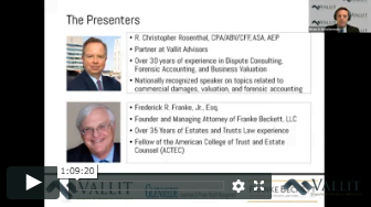 screenshot of presenters in Vallit's webinar series on the impact of covid-19
